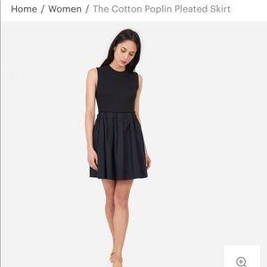 NWOT Everlane Cotton Poplin Pleated Skirt sz 00